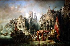 The Arrival of Fernando Alvarez de Toledo, Duke of Alba (1508-82) at Rotterdam in 1567