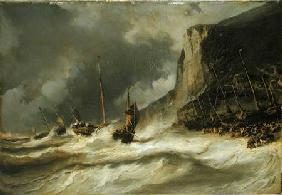 Storm on the Coast at Etretat, Normandy
