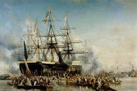 King Louis-Philippe (1830-48) Disembarking at Portsmouth, 8th October 1844