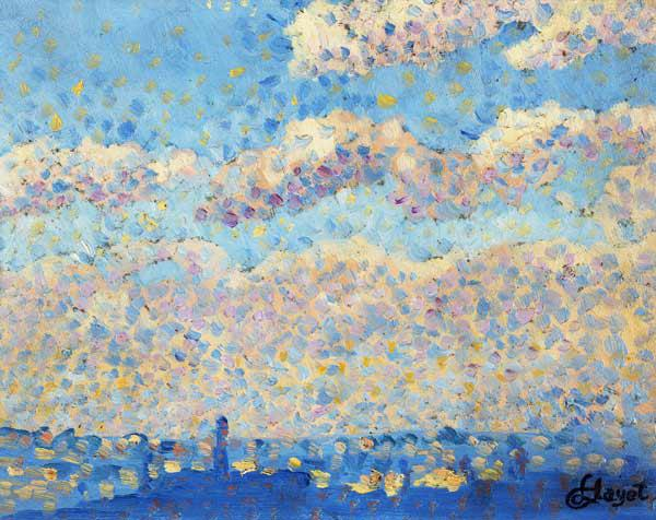 Sky over the city (oil on canvas)