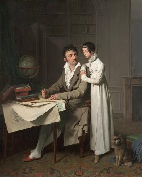 The Geography Lesson (Portrait of Monsieur Gaudry and His Daughter)