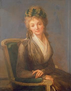 Portrait of Lucile Desmoulins, nee Duplessis (1770-1794)