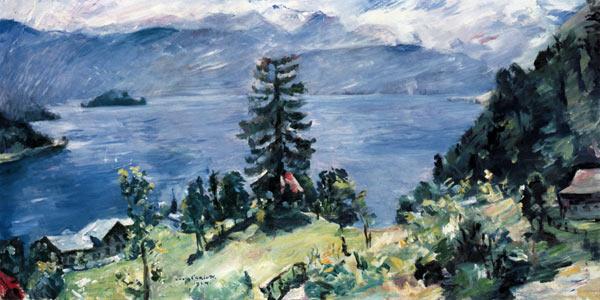 Discount Oil Change >> Walchensee panorama - Lovis Corinth as art print or hand ...