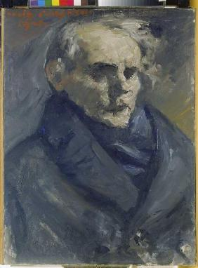 Portrait of the painter Bernt Grönvold.