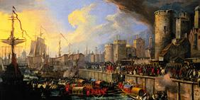 Arrival of two Venetian Ambassadors at the Stairs of the London Tower