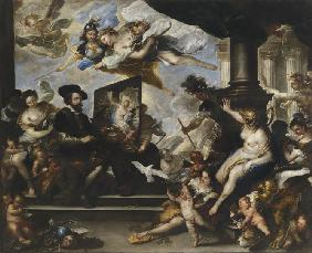 Giordano, Luca : Rubens painting the Allego...