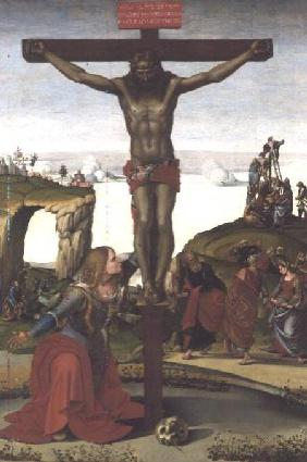 Signorelli, Luca : Crucifixion with Mary Magd...