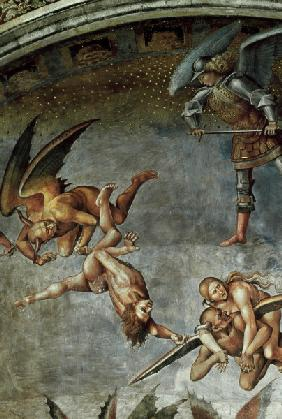 Signorelli, Luca : The Damned, detail