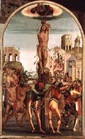Signorelli, Luca : The Martyrdom of St. Sebas...