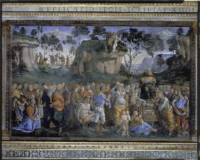 Signorelli, Luca : Mosess farewell and death