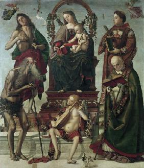 Signorelli, Luca : Mary and Sainats