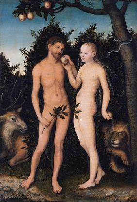 Adam and Eve in paradise (The Fall)