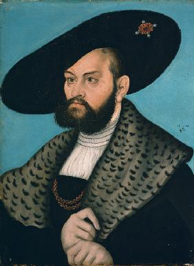 Portrait of Margrave Abrecht of Brandenburg-Ansbach, Duke of Prussia