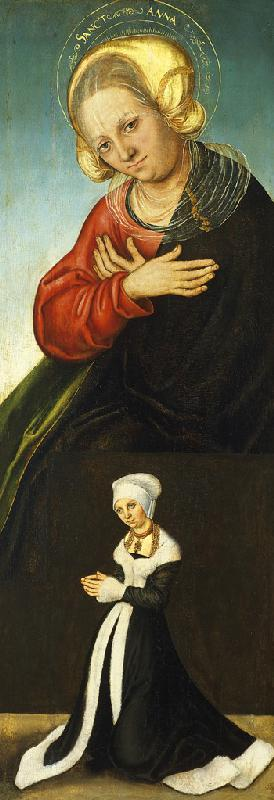 Saint Anne with the Duchess Barbara of Saxony as Donor
