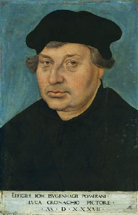 Portrait of the reformer Johann Bugenhagen (1485-1558)