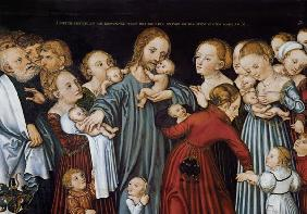 Cranach the Elder, Lucas : Let come the child flax co...