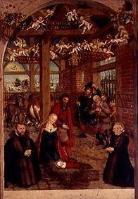 Adoration of the shepherds epitaph for Caspar Niemeck.