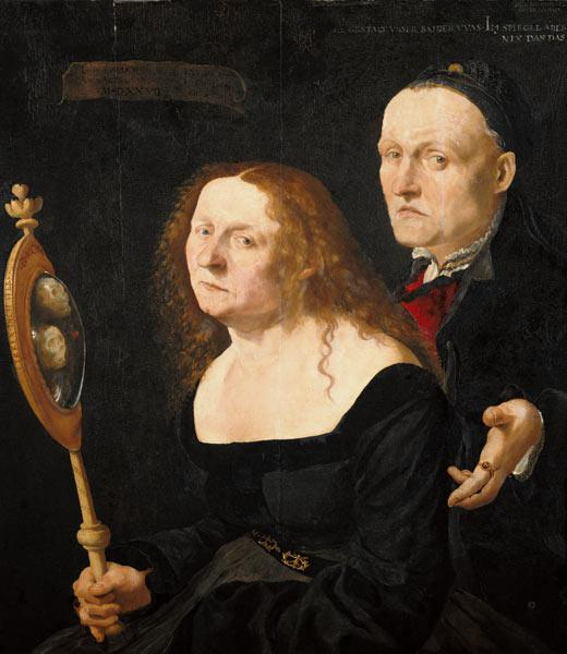 The painter Hans Burgkmair and his Mrs Anna.
