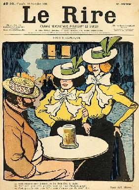 Half-sisters, from the front cover of ''Le Rire'', 10th September 1898