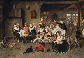 Knaus, Ludwig : A children's party (the ch...