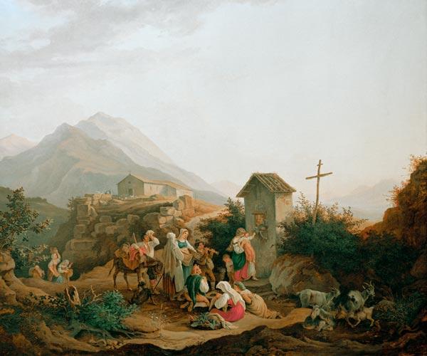 Ludwig Richter German Romanticist Amalfi Italy ART
