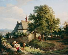 The church at Graupen in Bohemia 1836