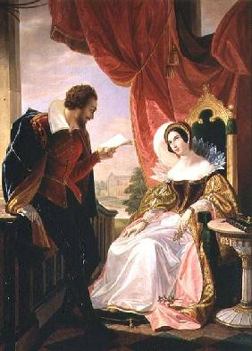 Torquato Tasso reading a poem to Leonora d'Este