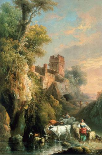 Spanish Landscape Manuel Barron Y Castillo As Art Print