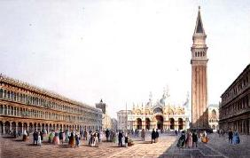 Piazza S. Marco, engraved by Brizeghel (litho)