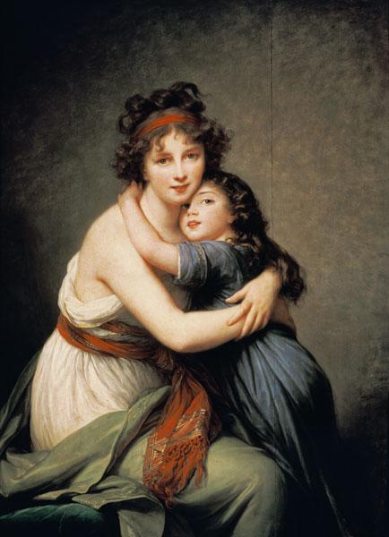 Vig�e-Lebrun, Marie Elisabeth-Louise : The artist with her daught...