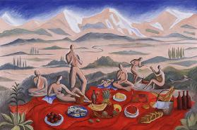The Picnic, 1992 (oil on canvas)