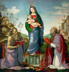 Madonna and Child with Saints James and Zenobius