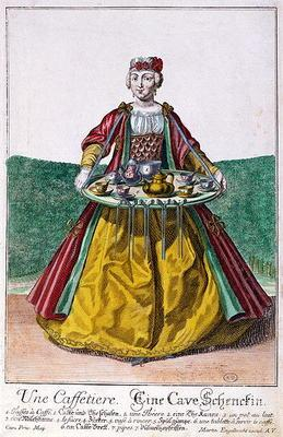 The Coffee Maker, c.1735 (coloured engraving)
