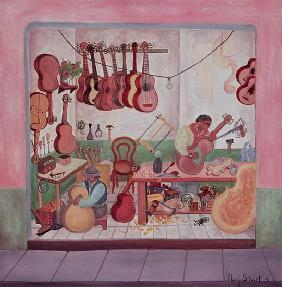 Guitar Store, 1976 (oil on canvas)