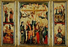 Triptych depicting the Crucifixion of Christ