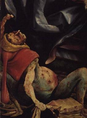 Suffering Man, detail from the reverse of the Isenheim Altarpiece