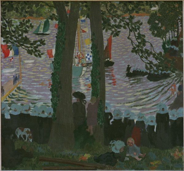 Benediction of a Yacht - Maurice Denis as art print or hand painted oil
