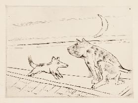 Dogs in the evening breeze, 1921 (H. 204)