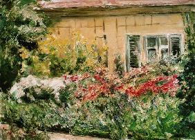shrubs of flowers at the cottage of the gardener 1928