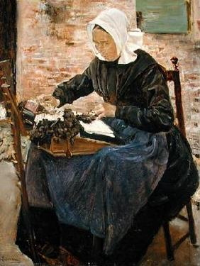A Dutch Lace-Maker, 1881 (oil on canvas)