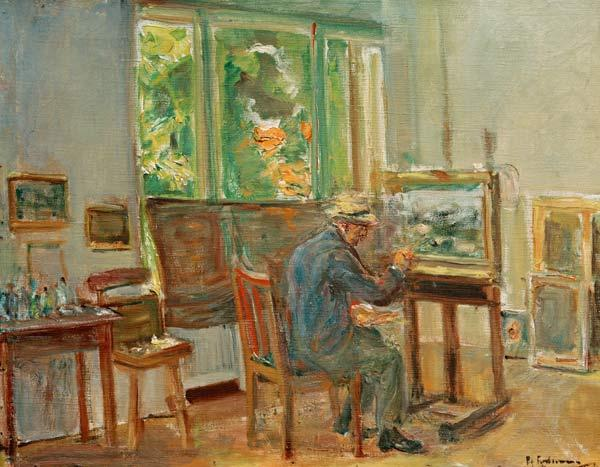 the artist in his studio at Wannsee