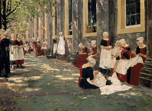 The court of the orphanage in Amsterdam.