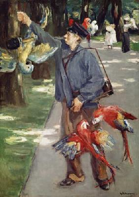 The parrot man