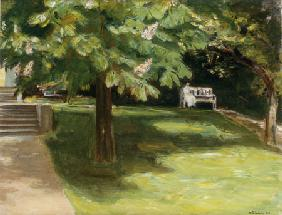 Liebermann, Max : lawn seat under the chestn...