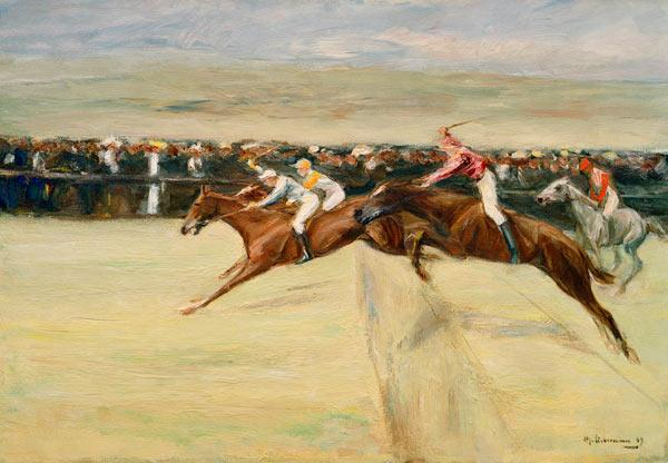Horse Racing in the Cascines - 1st version