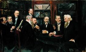 The Hamburg Convention of Professors, 1906 (oil on canvas) (see also 144760)
