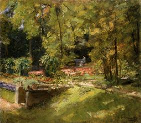 Liebermann, Max : the flower-terrace in the ...