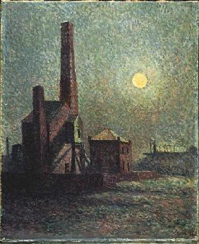 Luce, Maximilien : Full moon over the factory