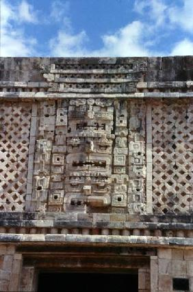 Carving detail from the East Building of the Nunnery Quadrangle, Late Classic Maya