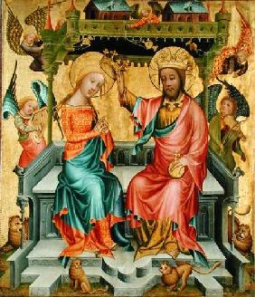 The Crowning of the Virgin, from the right wing of the Buxtehude Altar